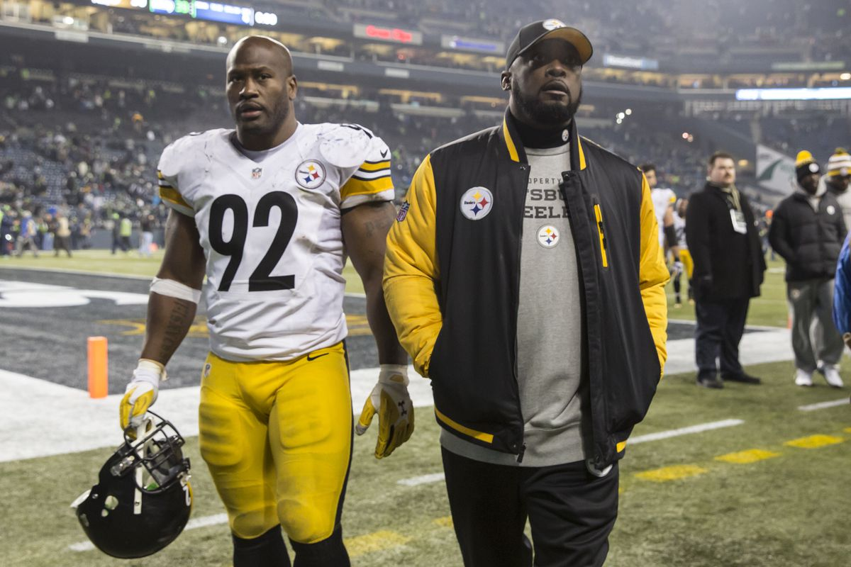 9273e9854a4 Pittsburgh Steelers vs Baltimore Ravens: James Harrison hits Ryan Mallett  low, refs pick up flag