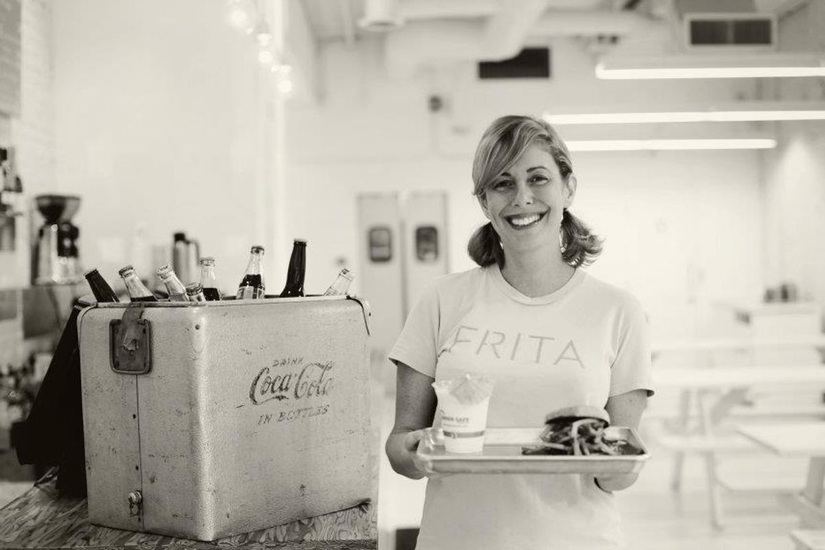 Chef Eve Aronoff's Frita Batidos features Cuban-style burgers and shakes.