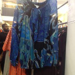 Chiffon blouse, $60
