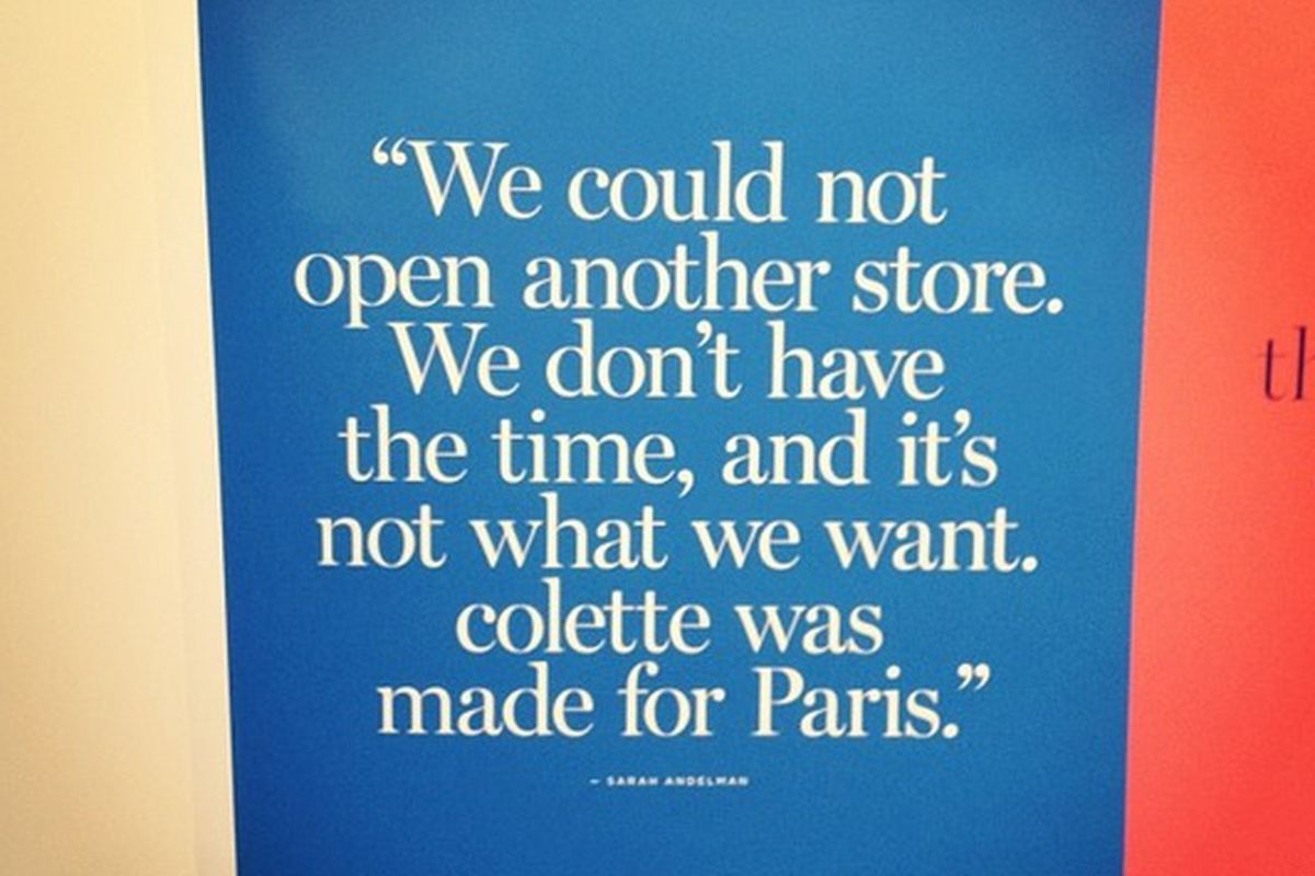 Don't expect a Colette here, NYC. Photo via SATURDAYS Magazine issue #003 launch