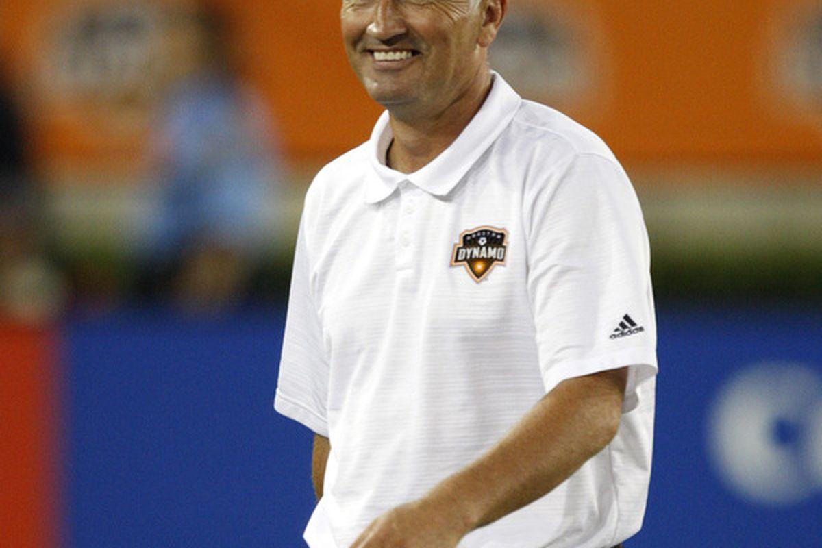 Thrice as nice. Houston Dynamo head coach Dominic Kinnear will be in orange through 2015.