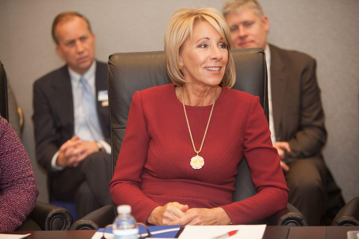 U.S. Education Secretary Betsy DeVos in March.