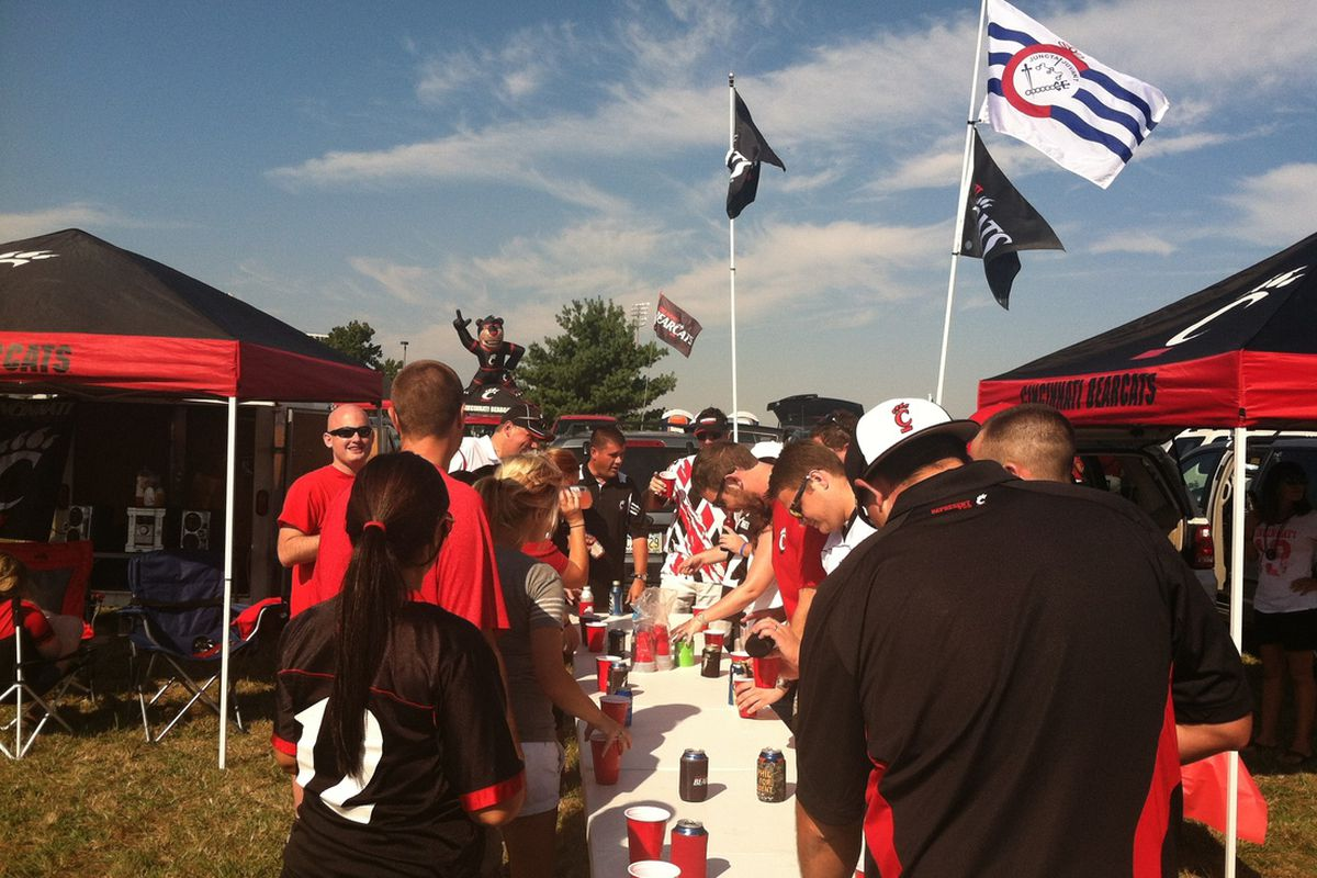 Bearcats fans in Champaign, IL