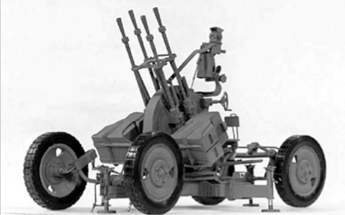 Zpu-4 anti-aircraft gun execution