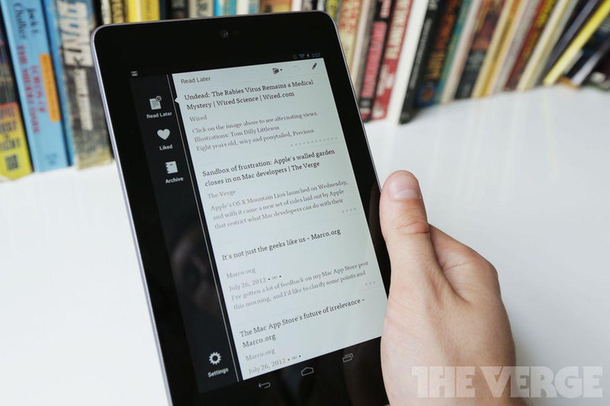 Nexus 7 Instapaper