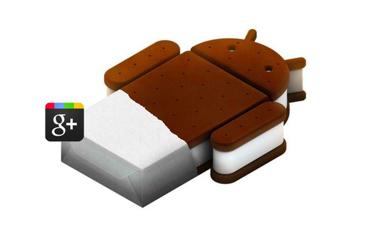 google+ ice cream sandwich