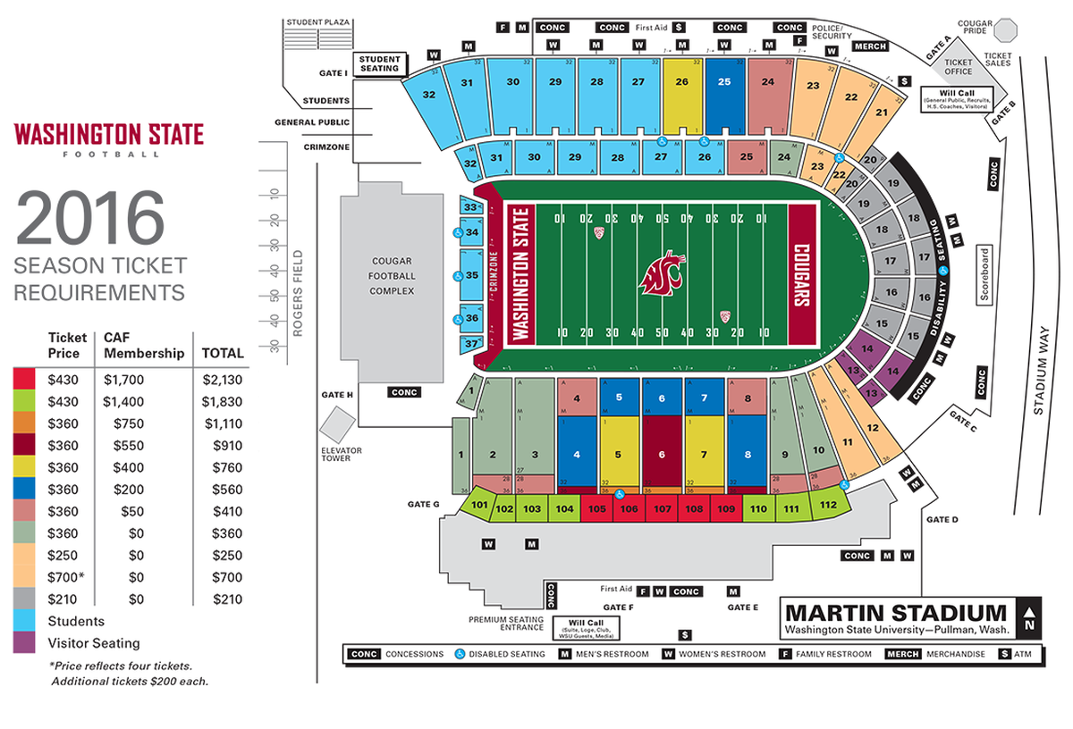 WSU football season ticket prices up with extra home game ...