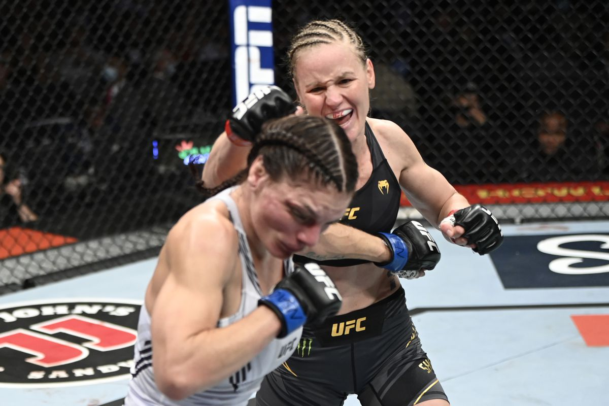 UFC 266 results: Valentina Shevchenko bludgeons Lauren Murphy with elbows  to earn fourth-round finish - MMA Fighting
