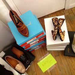 Rachel Comey flats and  Jean-Michel Cazabat heels, <b>$40</b>