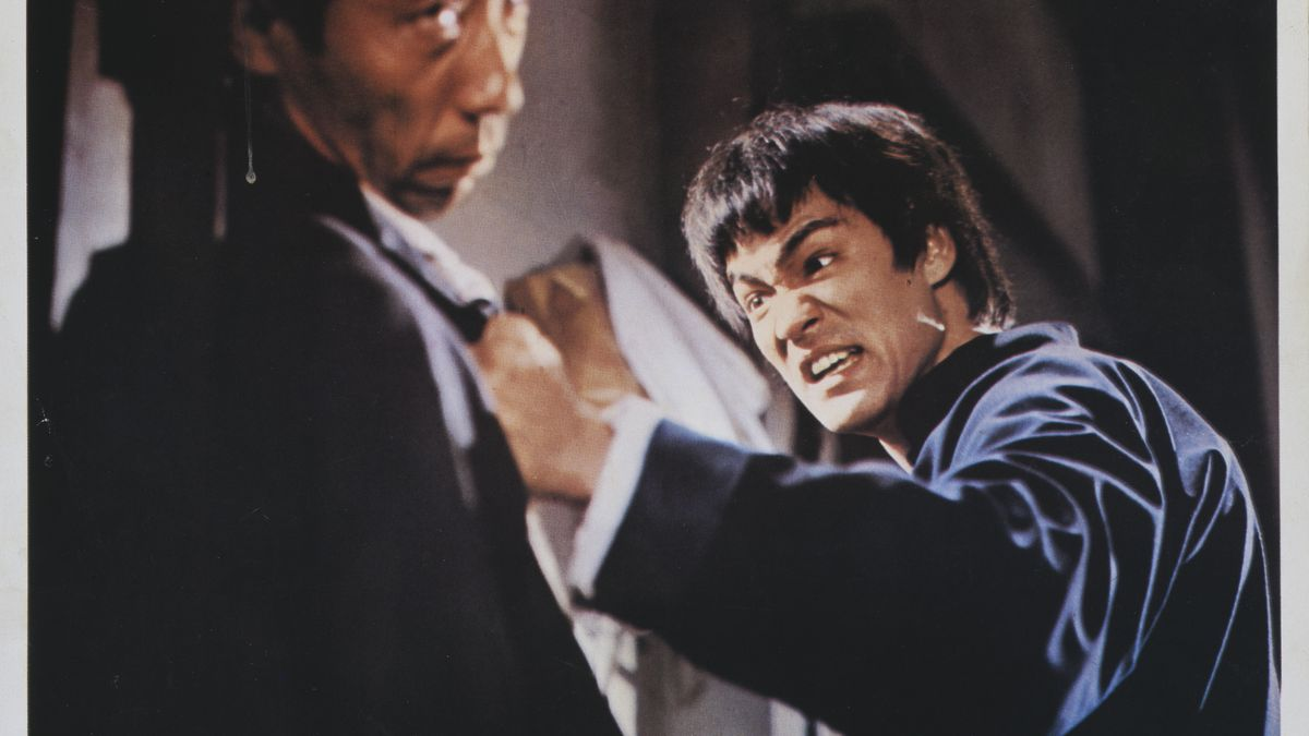 Bruce Lee on the poster of Fist of Fury