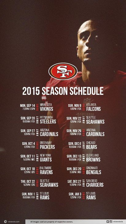 49ers schedule mobile wallpaper niners nation i have not seen a ton of mobile schedule options but here is one courtesy of ya0 on the 49ers sub reddit i like the subtlety of the kap picture voltagebd Choice Image