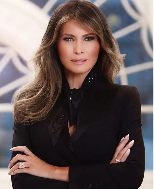The official portrait of First Lady Melania Trump was released by the White House today. |<br>Photo: REGINE MAHAUX, AFP/Getty Images)