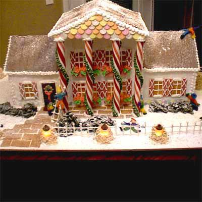 Gingerbread house replica of St. Andrews home.