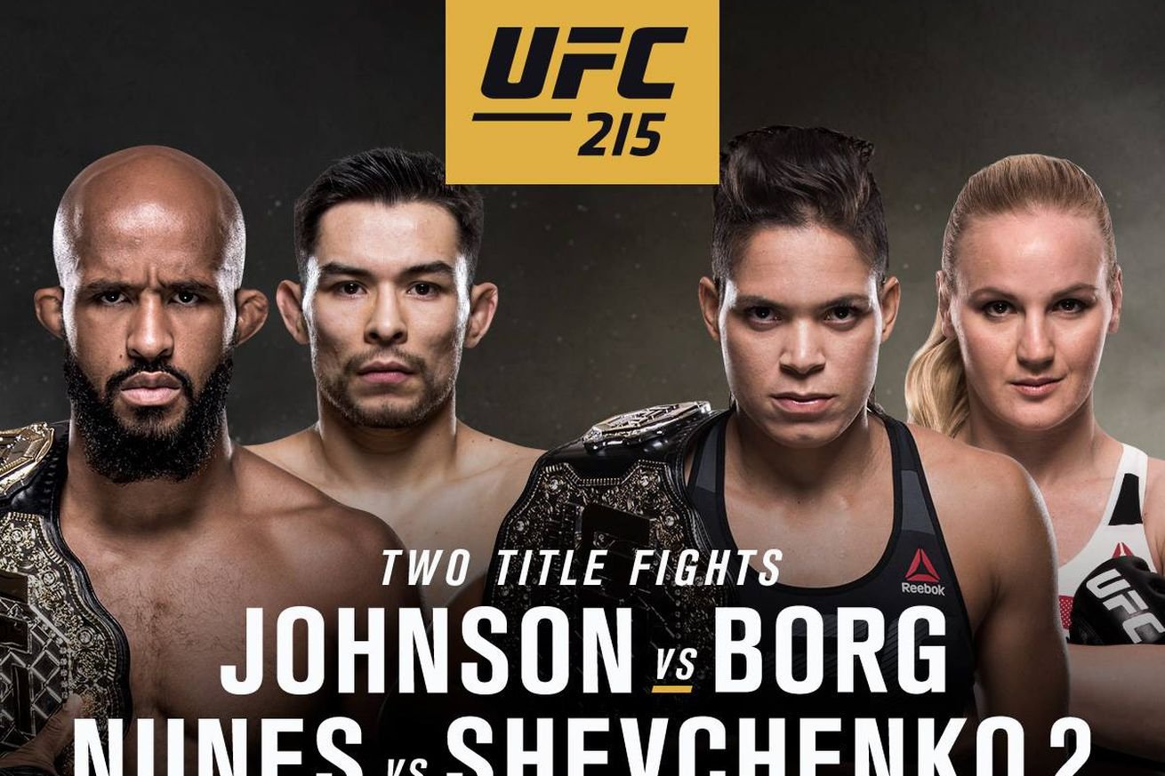 UFC 215 tickets: Buy seats for 'Johnson vs Borg' on Sept. 9 in Edmonton