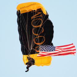 Pregame Parachute jumps are always awesome.