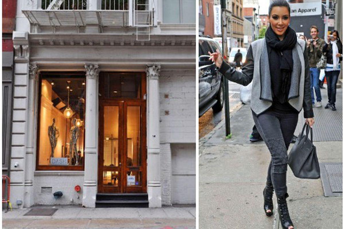 "Photos: <a href=""http://www.dashboutiqueclothing.com/dash-stores/dash-new-york/"">Dash Clothing Boutique</a>, <a href=""http://www1.pictures.zimbio.com/bg/Kim+Kardashian+Kim+Kourtney+Kardashian+SoHo+LW9e69TPXfcl.jpg"">Zimbio</a>"