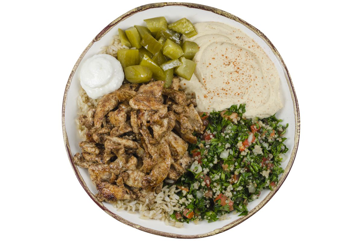 a chicken shawarma bowl ak takeaway official photo - Anitas Kitchen