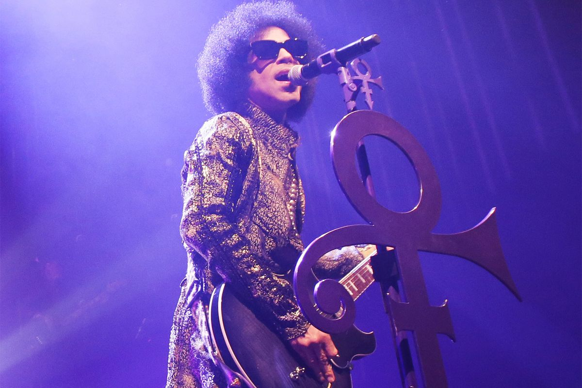 Prince performs onstage during the HitnRun tour at The Fox Theatre on April 9, 2015, in Detroit, Michigan.