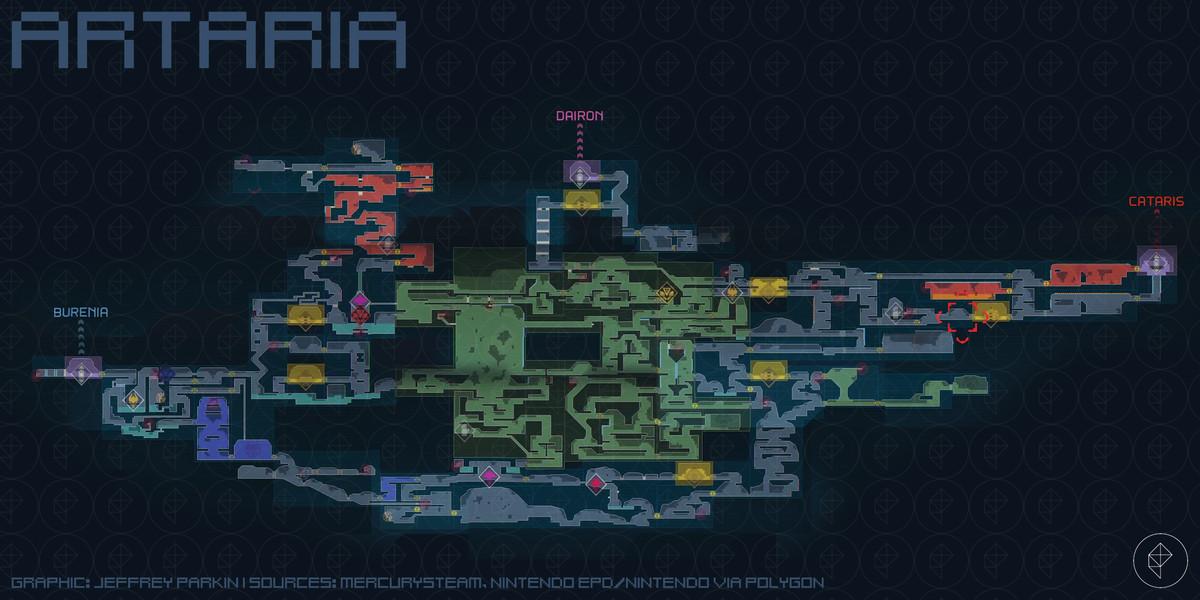 Metroid Dread Artaria map