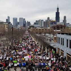 Protesters step off in the March for Our Lives from Union Park on Saturday. | Ashlee Rezin/Sun-Times