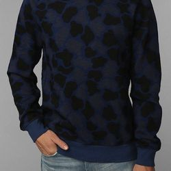 """<strong>CPO</strong> Camo Pullover Sweatshirt in Blue, <a href=""""http://www.urbanoutfitters.com/urban/catalog/productdetail.jsp?id=28801884"""">$49</a> at Urban Outfitters"""