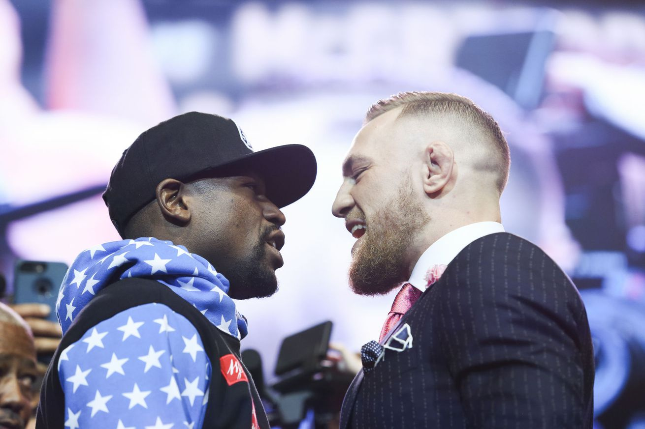 community news, Mayweather vs. McGregor World Tour, Episode 2: 'I'll bounce your head off the canvas'