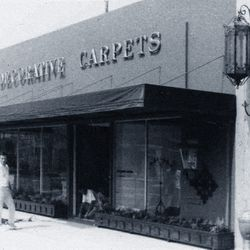 The storefront of Decorative Carpets Inc. in 1955. <i>[Photo courtesy Decorative Carpets Inc.]</i>
