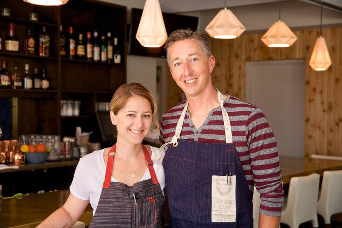Chefs Brooke Williamson and Nick Roberts
