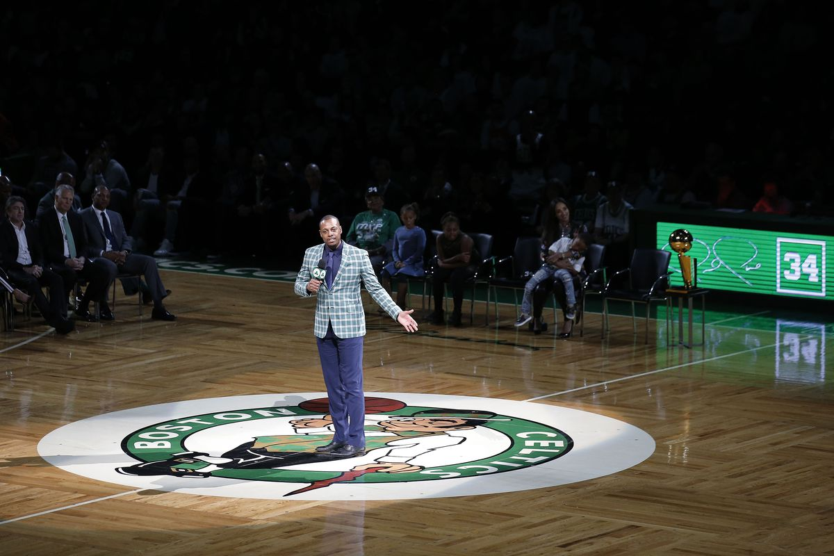 timeless design 80cf7 9a8d4 The 9 best moments from Paul Pierce's jersey retirement ...