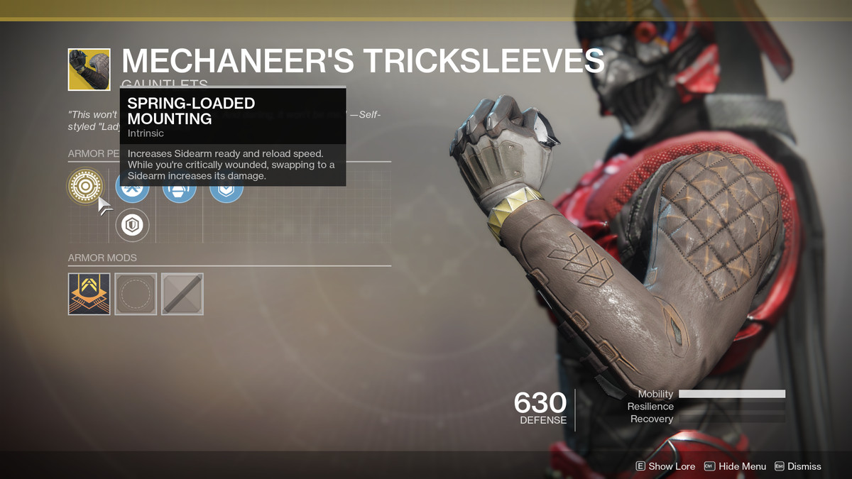Mechaneer's Tricksleeves Exotic Destiny 2