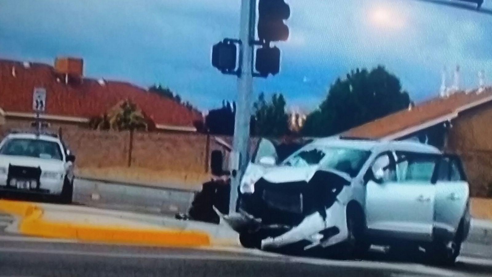 WHOA! Here's The Pic Of Jon Jones Smashed-up Rental Car