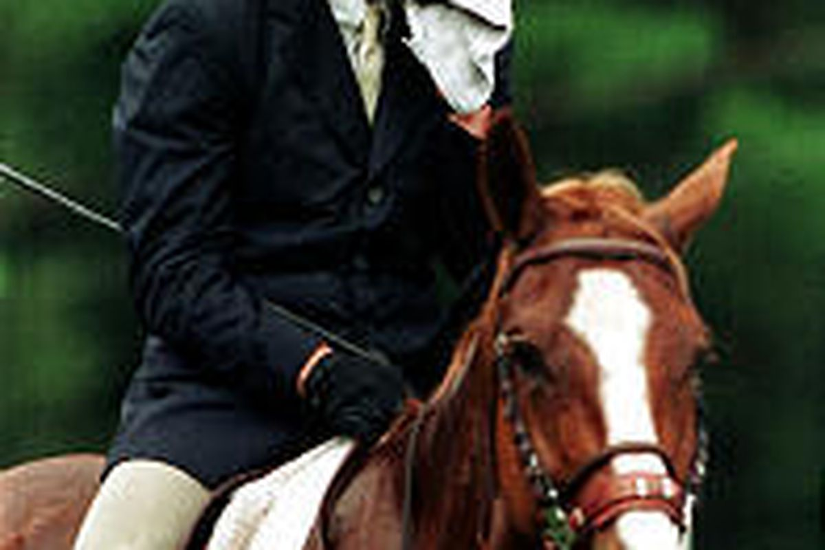 Christopher Reeve, shown at equestrian event in 1994, broke his neck the next year in a similar competition. He died Sunday after an infection led to cardiac arrest.