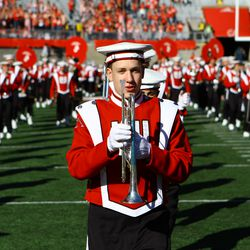 The Badger Band performs during the 5th Quarter
