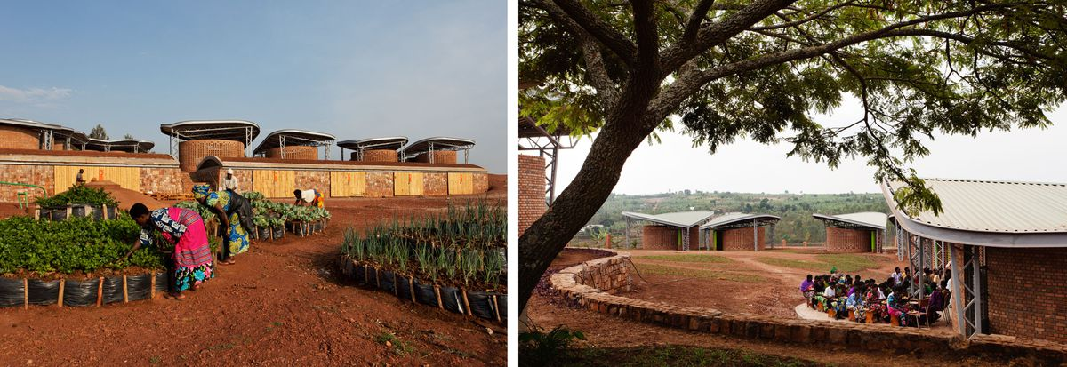 Images of the Womens Opportunity Center in Rwanda.