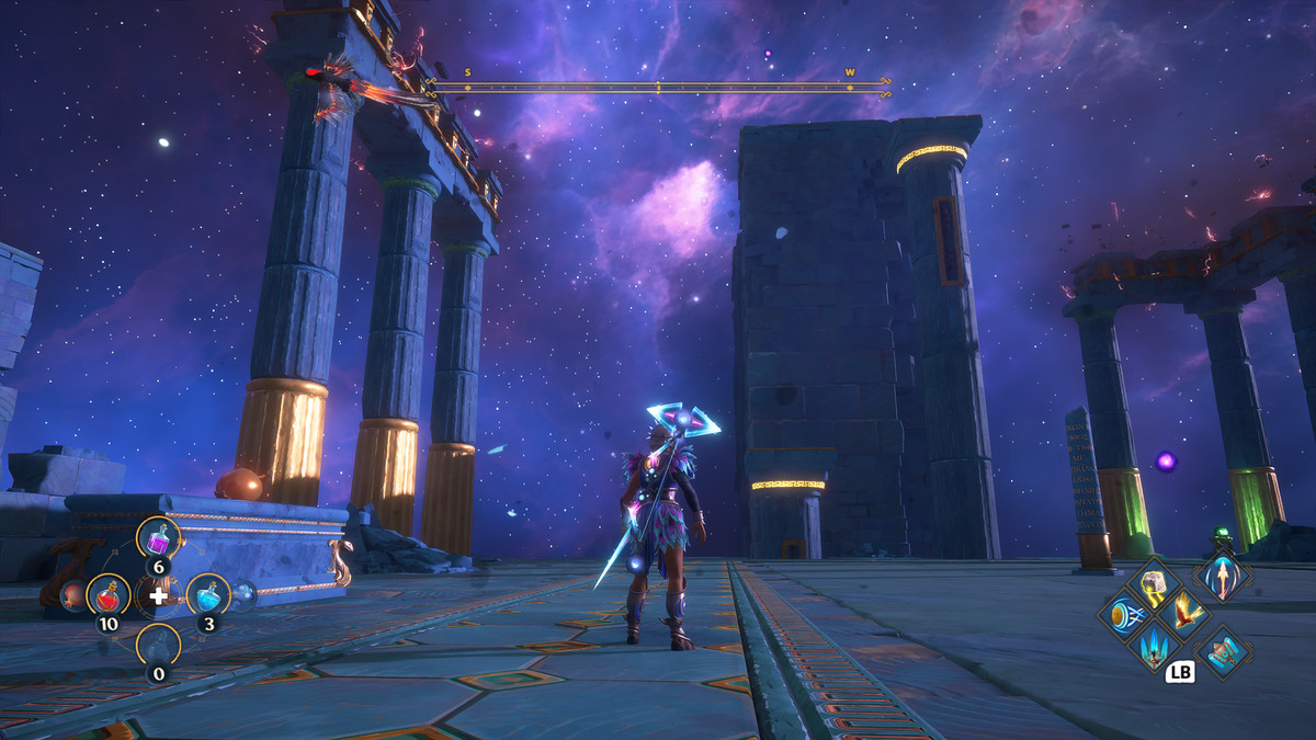 A puzzle solution from the Sanctuary of Erebos Vaultof Tartaros in Immortals Fenyx Rising