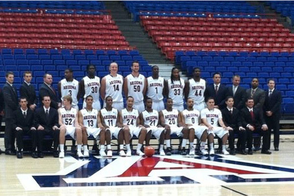 Arizona Wildcats 2011-2012 team photo.