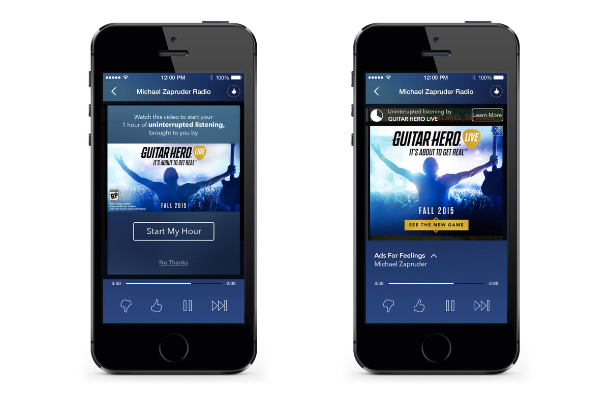 Pandora will give you one hour of ad-free music if you 'engage with