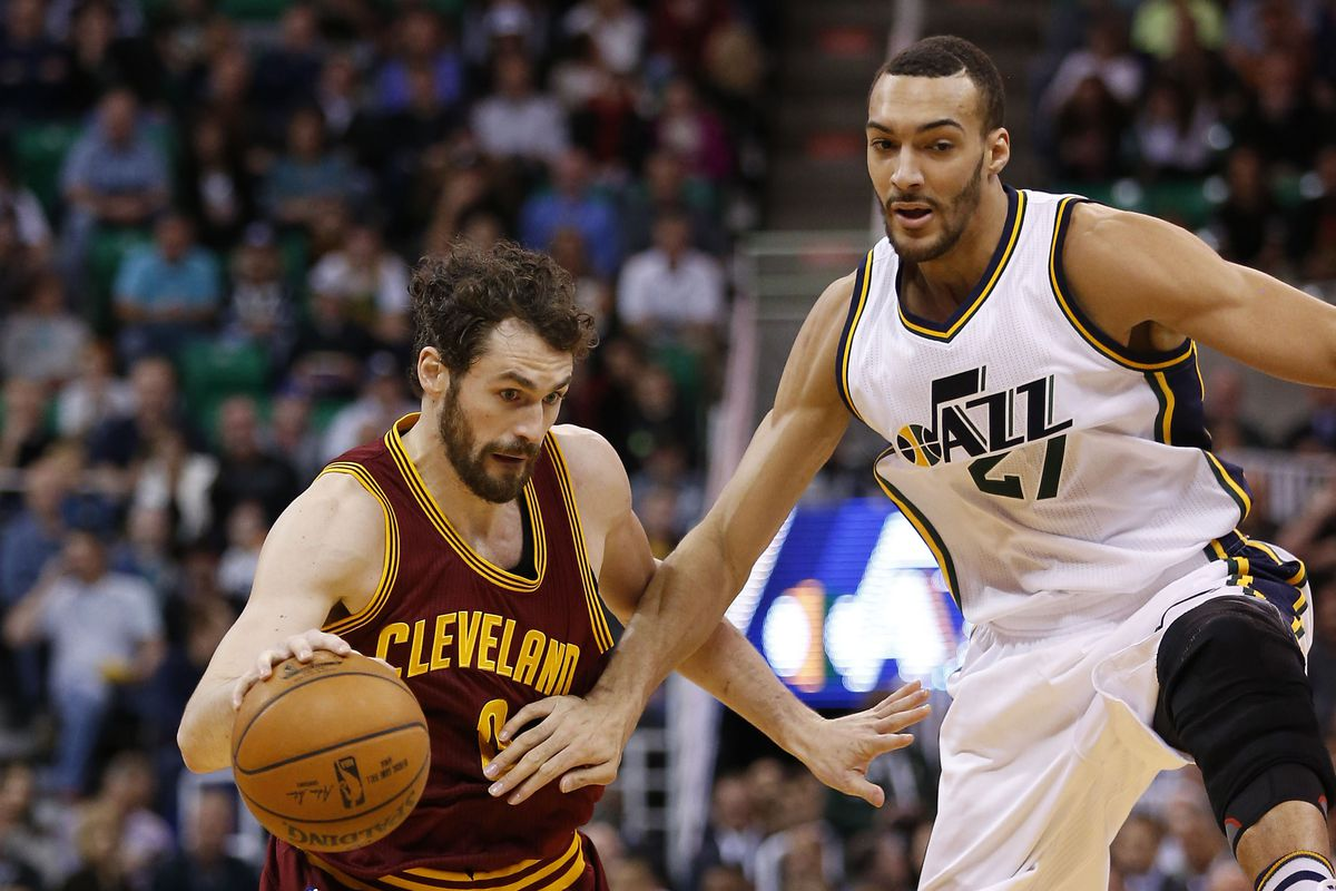 Gobert doesn't even have to try against scrub teams like the Cavs