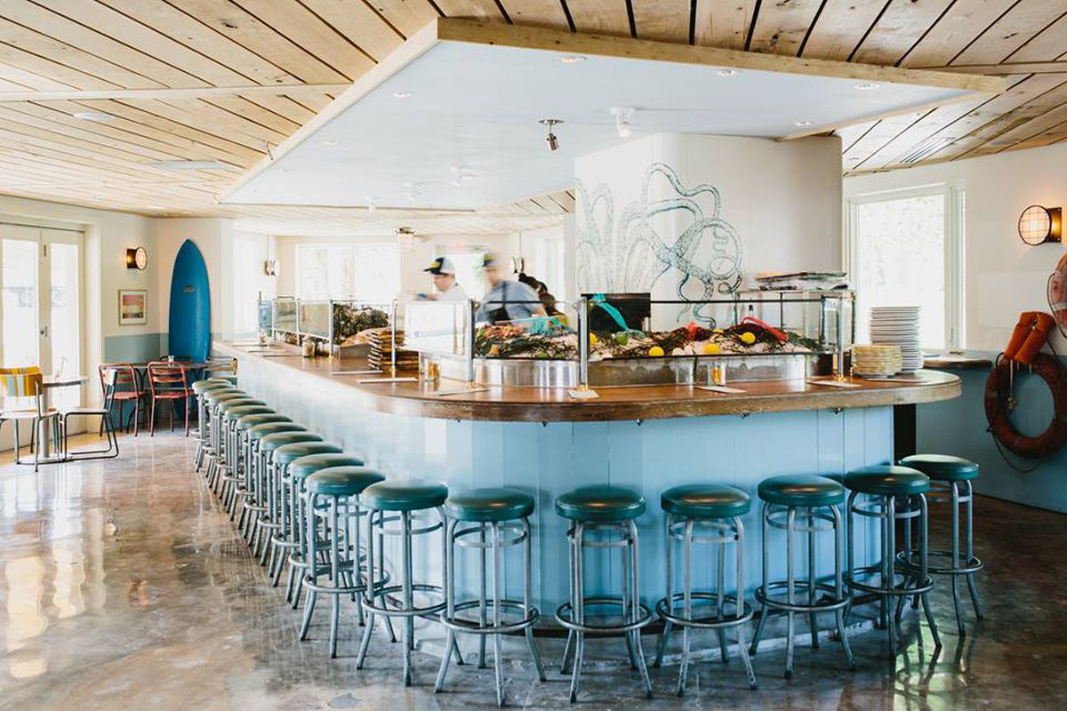 The oyster bar at The Optimist