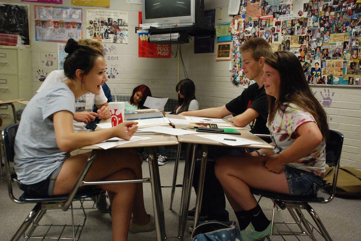 File photo of Wheat Ridge High School students.