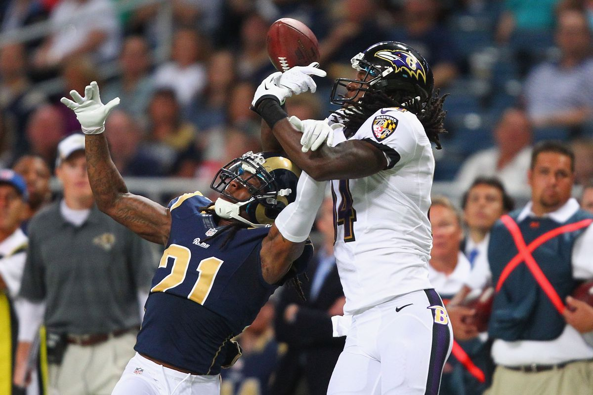Marlon Brown caught four passes for 79 yards and a touchdown Thursday night against St. Louis.