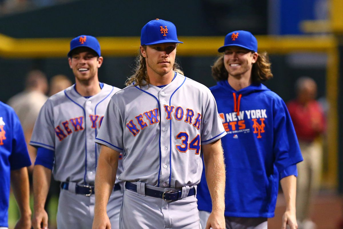 Meet the new york mets dream pitching rotation but be gentle mark j rebilas usa today sports you should really meet the mets step right up and greet kristyandbryce Gallery