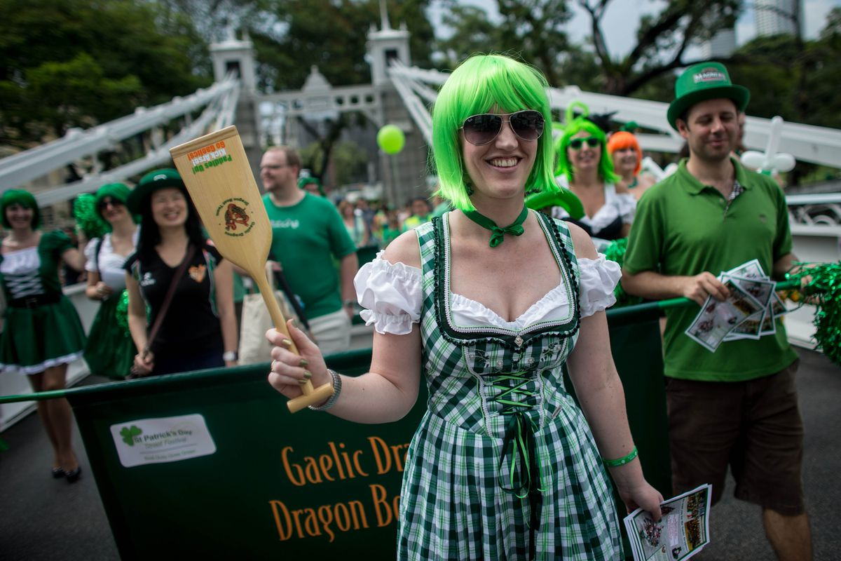 1fb6d5e28298b People participate in a St. Patrick s Day parade. Chris McGrath Getty Images