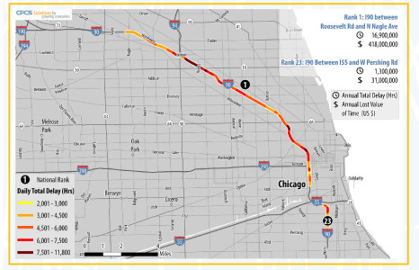 Chicago is home to worst traffic bottleneck in U.S.: study - Chicago on