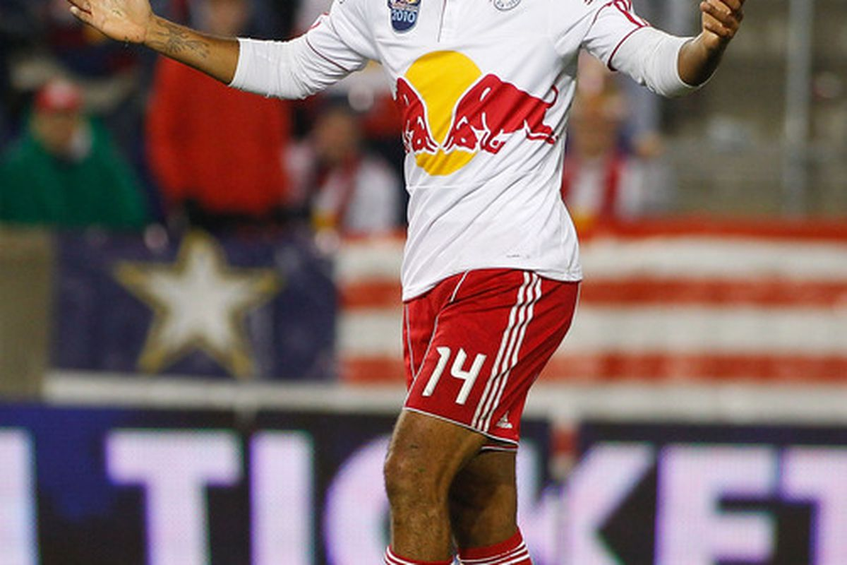 This gentleman has been enjoying his first Red Bulls pre-season. (Photo by Mike Stobe/Getty Images for New York Red Bulls)