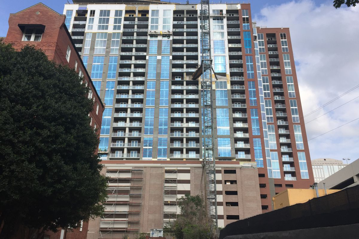 Post Midtown project rushes to be next new Atlanta rental high-rise ...