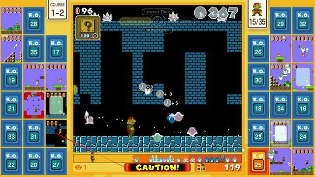 a screenshot of Course 1-2 in Super Mario Bros. 35