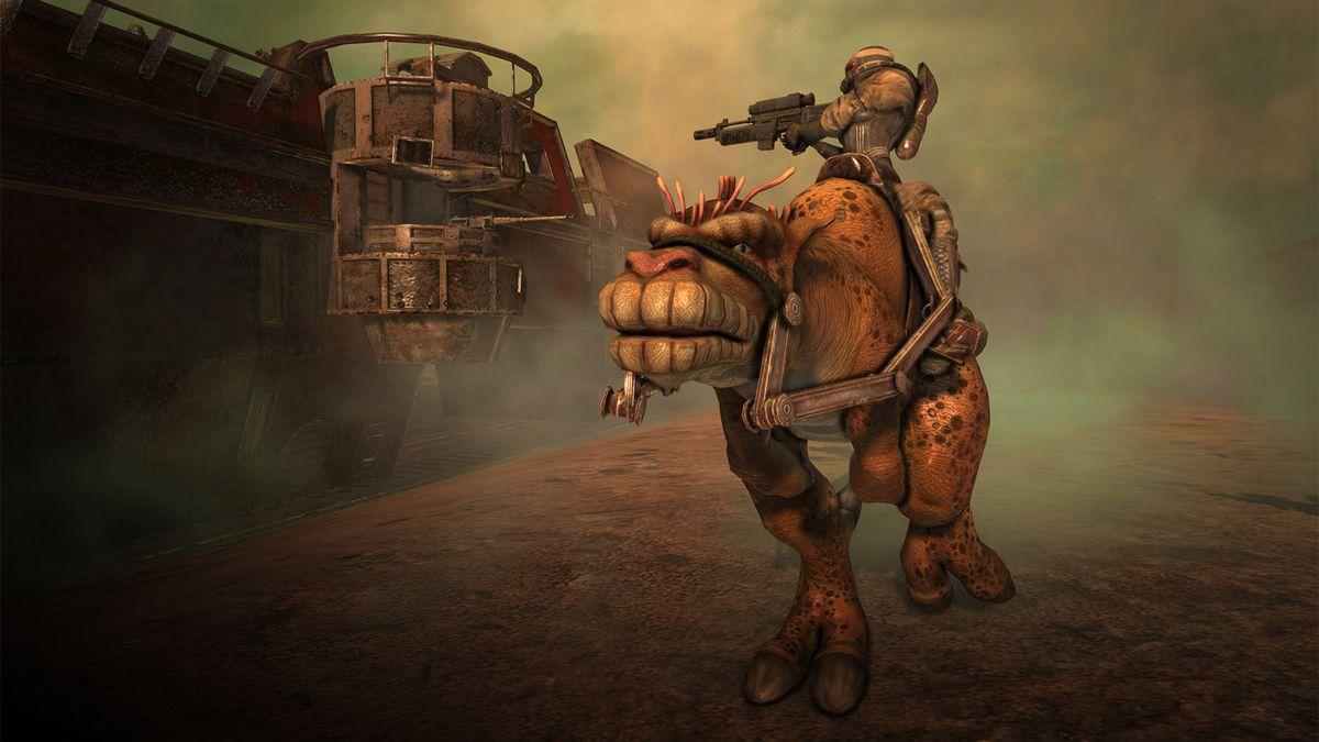 Rogue Trooper Redux - bipedal dinosaur-looking animal