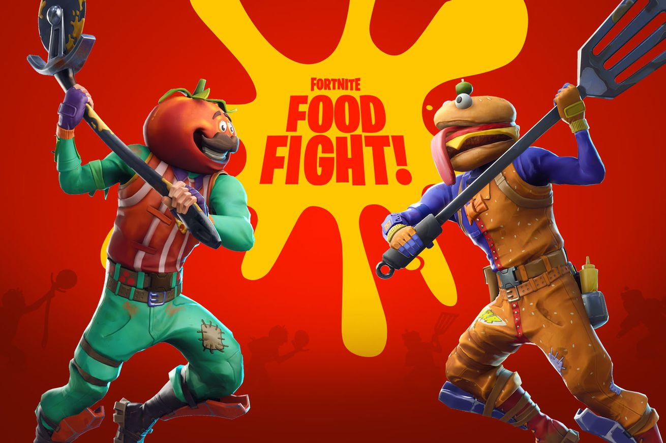 fortnite introduces new food fight mode for a limited time