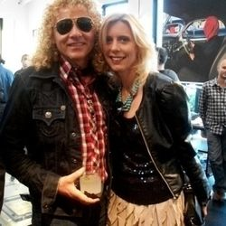 Guitarist Steve Cooke and ladyfriend